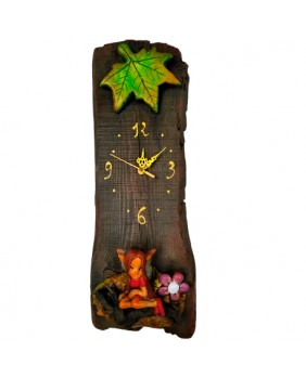 Reloj sobre Tabla de Madera